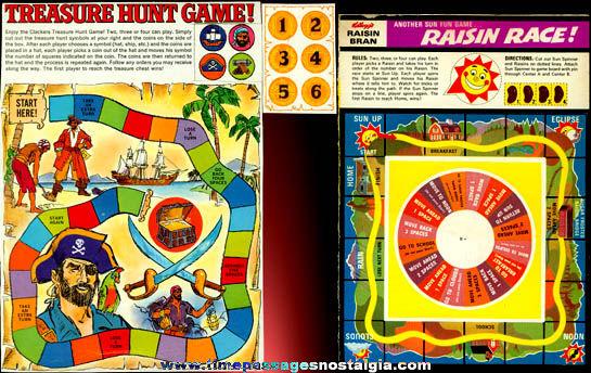 (2) Old Cereal Box Back Games