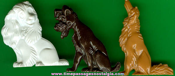 (3) 1955 Walt Disney Lady & The Tramp Advertising Premium Character Figures