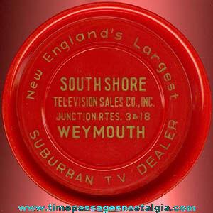 Old Television Dealer Advertising Premium Drink Coaster