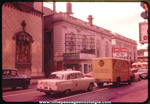 1959 National Biscuit Company Delivery Truck Color Photograph Slide