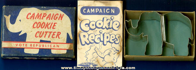 Old Boxed Republican Campaign Cookie Cutter