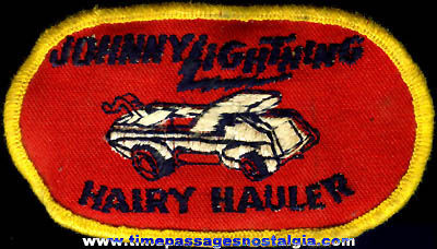 Old Johnny Lightning Hairy Hauler Cloth Patch