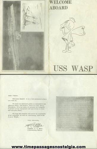 1950's U.S.S. WASP CVS-18 ''Welcome Aboard'' Brochure