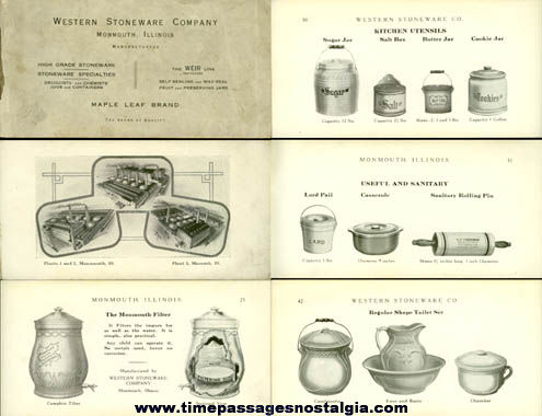 Old Western Stoneware Company Advertising Catalog Booklet