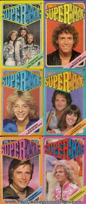 (6) 1978 SUPER MAG Teenage Magazines