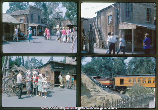 (12) 1965 Knotts Berry Farm Color Photograph Slides