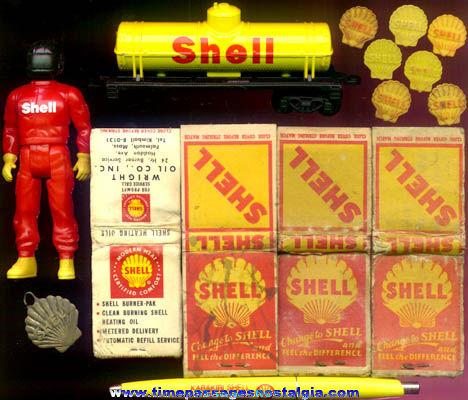 (15) Shell Gasoline Advertising Items