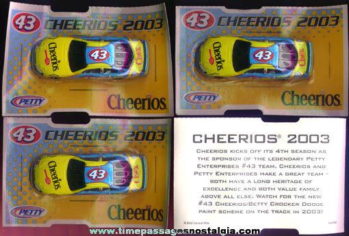 (4) Unopened Cheerios Cereal / Richard Petty Premium Race Cars