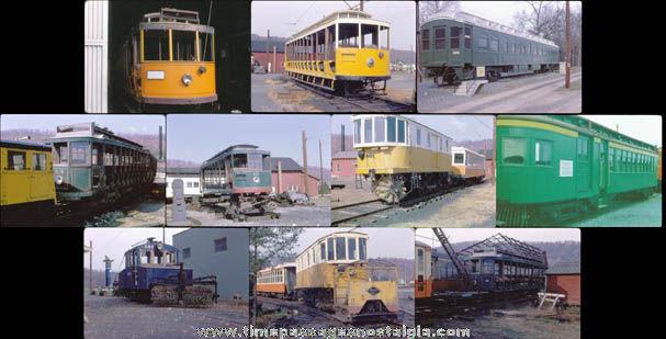 (10) Old Train Car Photograph Slides