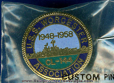 U.S.S. Worcester CL-144 Association Enameled Pin