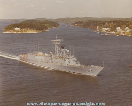 Old U.S.S Oliver Hazard Perry FFG-7 Photograph