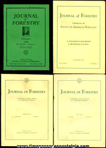 (4) 1934 - 1946 Journal Of Forestry Books