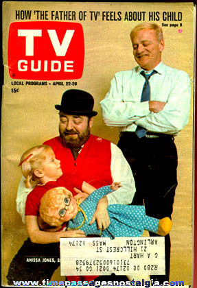 April 22, 1967 TV Guide With ''A Family Affair Cover''
