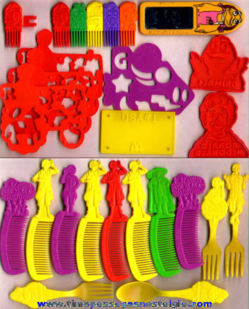 (22) 1980s McDonalds Character Toy Prizes