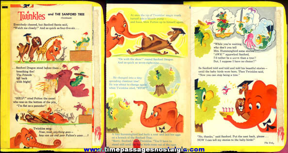 1960 General Mills Twinkles Cereal Box Three Page Story
