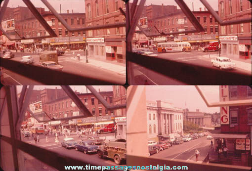 (12) 1950s City Scene Color Photograph Slides