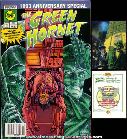 Green Hornet 1993 Anniversary Comic Book With Flicker Trading Card