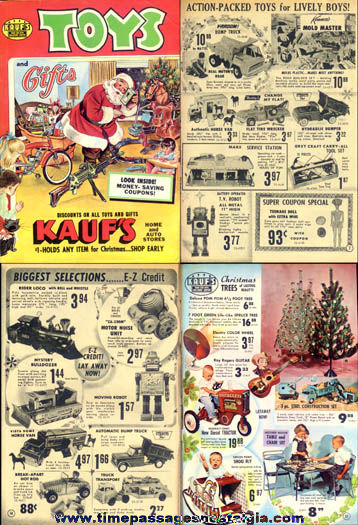 1964 Kauf's Home & Auto Store Christmas Toy & Gift Catalog