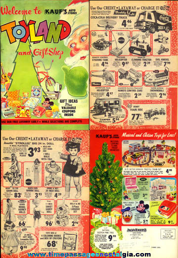 1973 Kauf's Home & Auto Store Christmas Toy & Gift Catalog