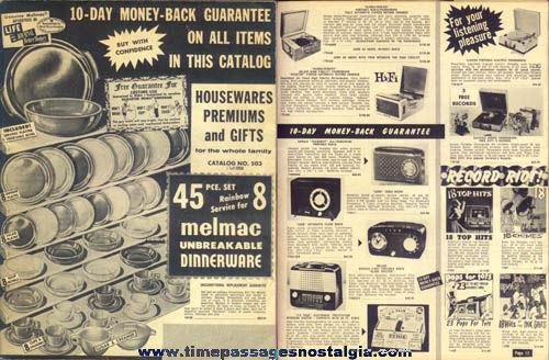 1957 - 1958 Jay Norris Company Houseware And Premium Catalog