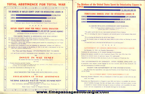 World War II Anti Drinking Propaganda Flyer