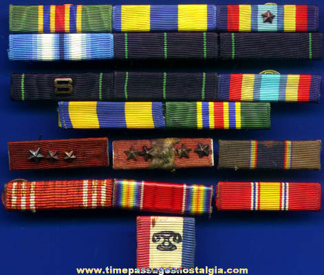 (18) Old Military Ribbons