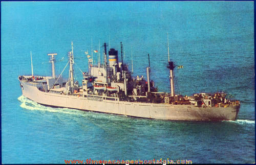 Unused U.S.N.S. Bowditch (T-AGS 21) Post Card