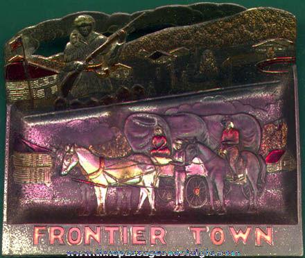 Old Frontier Town Souvenir Metal Tray