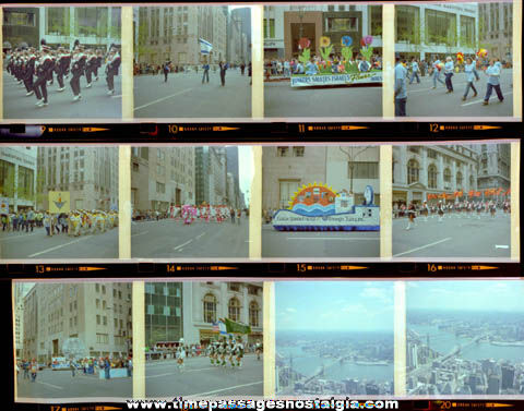 (12) Old New York City Parade 35mm Color Photo Negatives