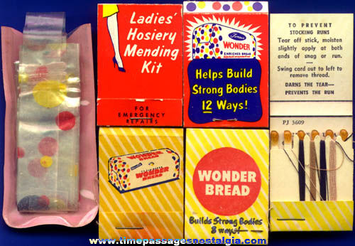 (6) Old Wonder Bread Advertising Premium Items