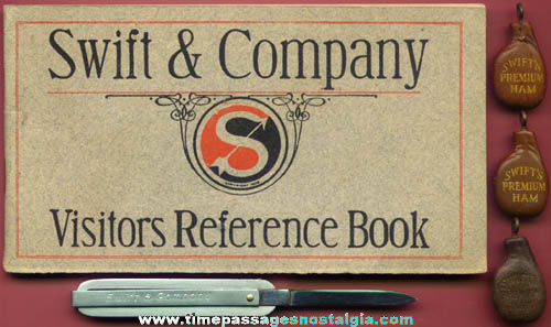 (6) Old Swift & Company Advertising Premium Items