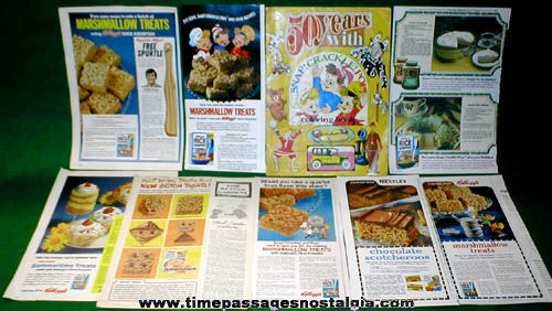 (31) Old Kellogg's Rice Krispies Cereal Advertising and Premium Items