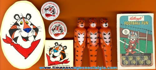 (8) Small Kellogg's Tony The Tiger Cereal Advertising Character Items