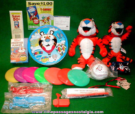 (21) Kellogg's Tony The Tiger Cereal Advertising Character Items
