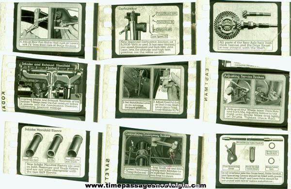 (23) Old Automotive Related Film Frames