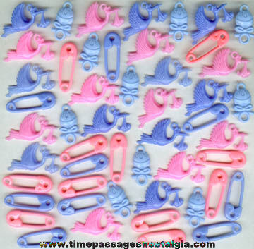 (50) Colorful Baby Related Charms