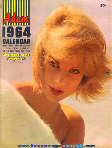 1964 Adam Pretty Women Risque Calendar