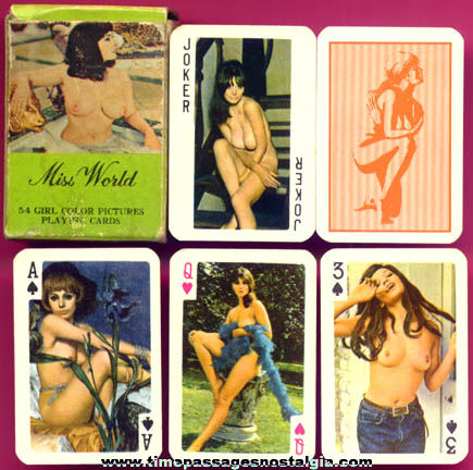 Boxed Old Miniature Risque Playing Card Deck
