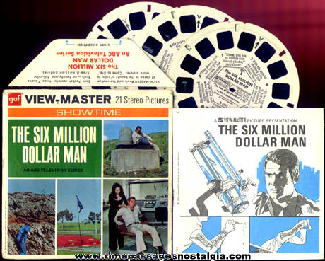 �1974 Six Million Dollar Man View Master Reel Set
