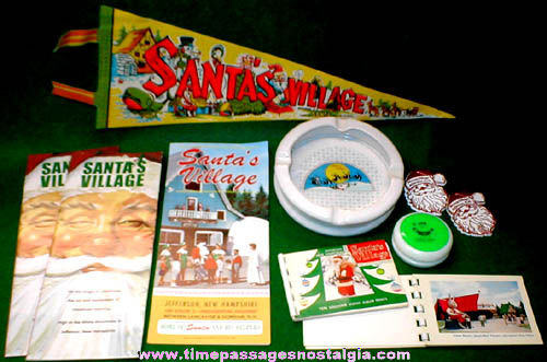 (19) Santas Village Advertising Items & Photo Negatives