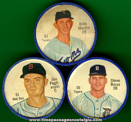(3) Old Salada Tea & Junket Desserts Premium Baseball Player Coins