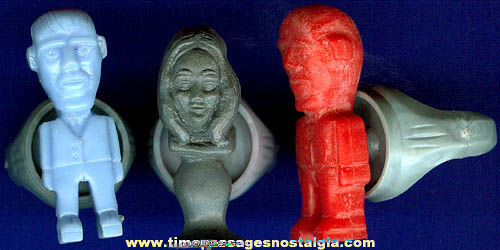 (3) 1964 Addams Family Character Gum Ball Machine Prize Toy Rings