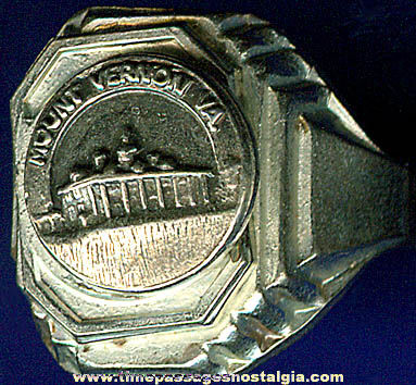 Old Mount Vernon, Virginia Advertising Souvenir Ring