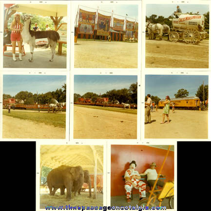 (8) 1971 Circus World Museum Color Photographs