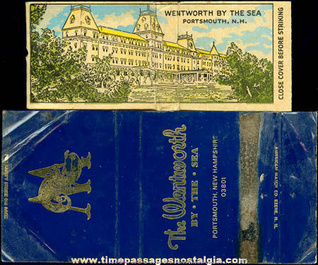 (3) Small Old Wentworth By The Sea New Hampshire Hotel Items