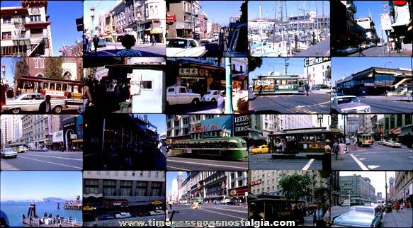 (20) 1965 San Francisco, California Street Scene Color Photograph Slides