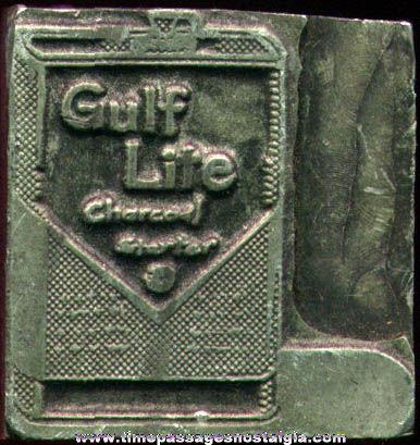 Old Gulf Lite Charcoal Starter Advertising Printing Block