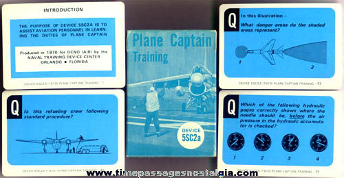Boxed 1970 United States Navy Plane Captain Training Card Deck