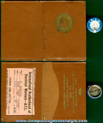 (3) Old International Brotherhood Of Electrical Workers Items