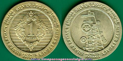 Silver Legacy, Reno, Nevada One Dollar Casino Token Coin